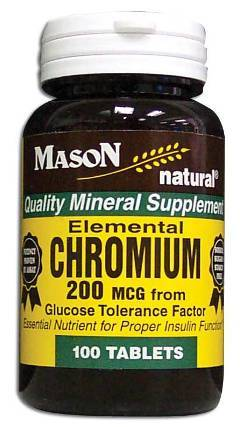 Image 0 of Elemental Chrom Units M 200 Mcg From Glucose Tolerance Factor Tablets 100