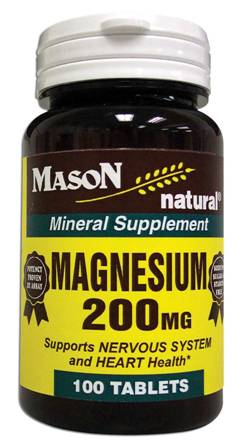 Image 0 of Magnesium 200 mg For Nervous System & Heart Health Mineral Supplement Tablets