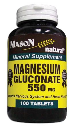 Image 0 of Magnesium Gluconate 550 mg Mineral Supplement Tablets 100