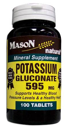 Image 0 of Potassium Gluconate 595mg Mineral Supplement Tablets 100