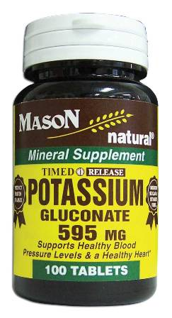 Image 0 of Potassium Gluconate 595 mg Timed Release Mineral Supplement Tablets 100
