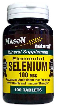 Image 0 of Selenium 100 Mcg Mineral Supplement Tablets 100