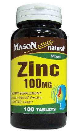 Image 0 of Zinc 100 mg Mineral Dietary Supplement Tablets 100