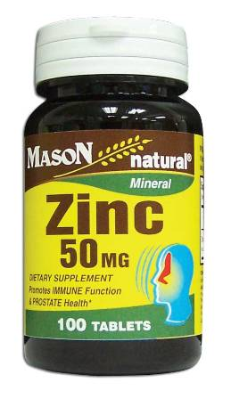 Image 0 of Zinc 50 mg Mineral Dietary Supplement Tablets 100