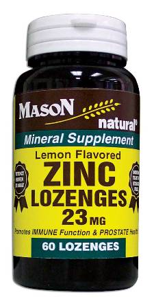 Image 0 of Zinc 23mg Lemon Flavored Mineral Supplement Lozenges 60