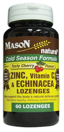Image 0 of Zinc Vitamin C & Echinacea Cherry Flavor Cold Season Formula Lozenges 60