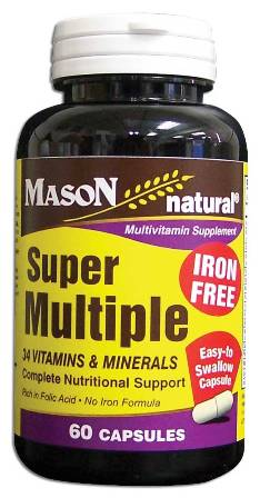 Image 0 of Super Multiple Complete Nutritional Support Vitamins Iron Free Capsules 60