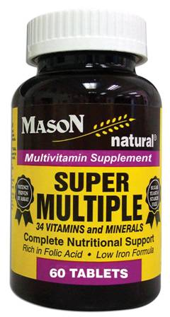 Image 0 of Super Multiple 34 Vitamins & Minerals Multivitamin Supplement Tablets 60