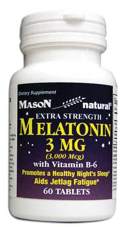 Image 0 of Melatonin Extra Strength 3 mg With Vitamin B-6 Tablets 60