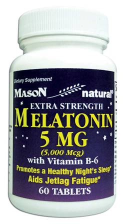 Image 0 of Melatonin Extra Strength 5 mg With Vitamin B-6 Tablets 60