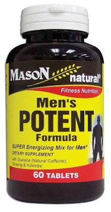 Image 0 of Men's Potent Formula Fitness Nutrition Dietary Supplement Tablets 60