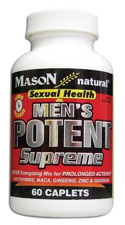 Image 0 of Men's Potent Supreme Timed Release Sexual Health Dietary Supplement Caplets 60