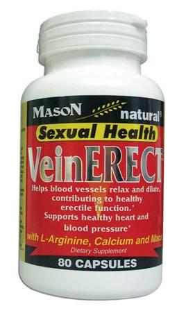 Image 0 of Veinerect With L-Arginine Calcium & Maca Sexual Health Capsules 80