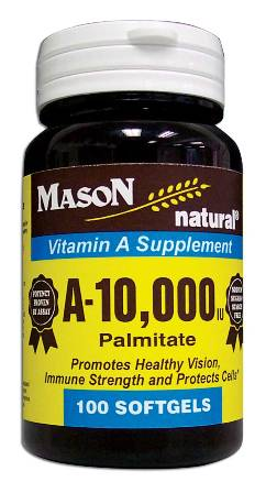A-10 000 Units Palmitate Vitamin A Supplement Softgels 100
