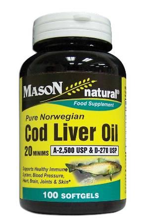 Image 0 of Cod Liver Oil 20 Minims Pure Norwegian Food Supplement Softgels 100