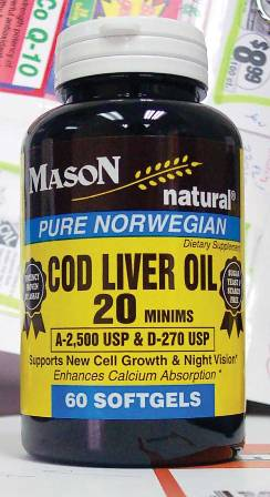 Image 0 of Cod Liver Oil 20 Minims Pure Norwegian Food Supplement Softgels 60