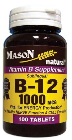 Image 0 of Vitamin B Supplement B-12 1000 Mcg Sublingual Tablets 100