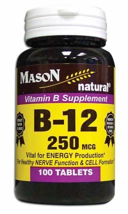 Image 0 of Vitamin B Supplement B-12 250 Mcg Tablets 100