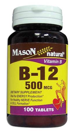 Image 0 of Vitamin B B-12 500 Mcg Dietary Supplement Tablets 100