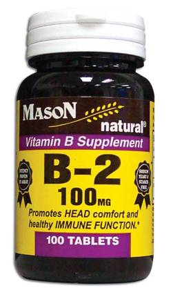Image 0 of Vitamin B Supplement B-2 100 mg Tablets 100