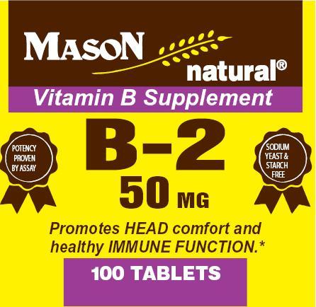Image 0 of Vitamin B Supplement B-2 50 mg Tablets 100