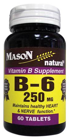 Image 0 of Vitamin B Supplement B-6 250 mg Tablets 60
