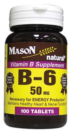 Image 0 of Vitamin B Supplement B-6 50 mg Tablets 100
