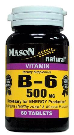 Image 0 of Vitamin B Supplement B-6 500 mg Tablets 60