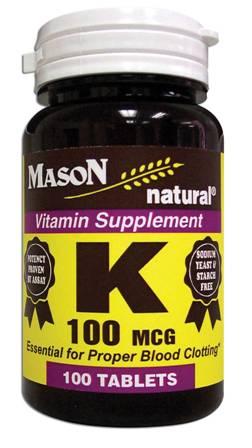 Image 0 of Vitamin K 100 Mcg For Proper Blood Clotting Tablets 100