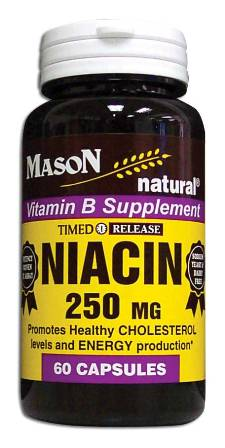 Image 0 of Niacin 250 mg Timed Release Vitamin B Supplement Capsules 60