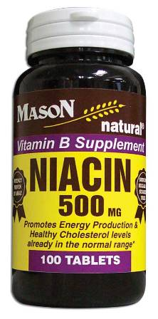 Image 0 of Niacin 500 mg Vitamin B Supplement Tablets 100