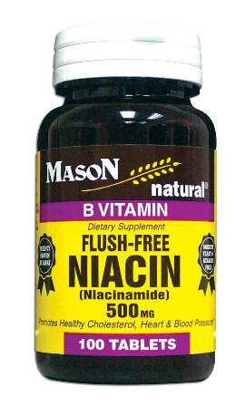 Image 0 of Niacin (Niacinamide) Flush-Free 500 mg Vitamin B Supplement Tablets 100