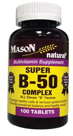 Image 0 of Super B-50 Complex Multivitamin Supplement Tablets 100