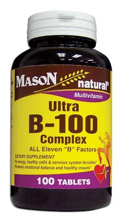 Image 0 of Ultra B-100 Complex Multivitamin Dietary Supplement Tablets 100