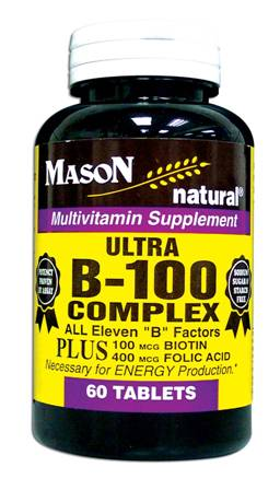 Image 0 of Ultra B-100 Complex Multivitamin Dietary Supplement Tablets 60