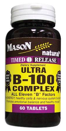 Image 0 of Ultra B-100 Complex Timed Release Dietary Supplement Tablets 60