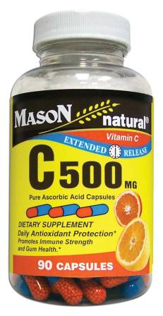 Image 0 of Vitamin C Supplement Timed Release C 500 mg Dietary Supplement Capsules 90