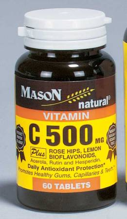 Image 0 of C500 mg Plus Rose Hips & Bioflavonoids Complex Vitamin C Supplement Tablets 60