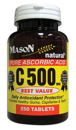 Image 0 of C-500mg Pure Ascorbic Acid Vitamin C Dietary Supplement Tablets 250