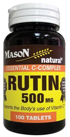 Image 0 of Rutin 500 mg Vitamin C Supplement Tablets 100