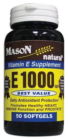 Image 0 of E 1000 Units Dl Alpha Tocopheryl Vitamin E Supplement Softgels 50