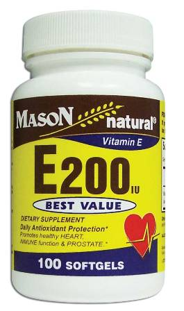 Image 0 of E 200 Units Dl Alpha Tocopheryl Vitamin E Dietary Supplement Softgels 100