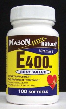 Image 0 of E 400 Units Dl Alpha Tocopheryl Vitamin E Dietary Supplement Softgels 100