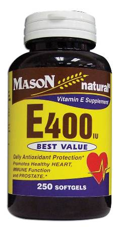 Image 0 of E 400 Units Dl Alpha Tocopheryl Vitamin E Dietary Supplement Softgels 250