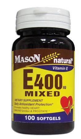 Image 0 of E 400 Units Mixed Tocopherols Vitamin E Dietary Supplement Softgels 100