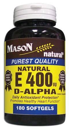 Image 0 of E 400 Units D-Alpha Tocopheryl Purest Quality Softgels 180