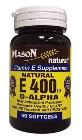 Image 0 of E 400 Units D-Alpha Tocopheryl Vitamin E Supplement Softgels 60