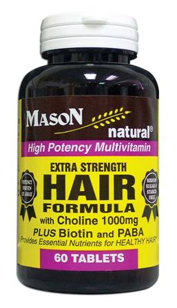 Image 0 of Extra Strength Hair Formula With Choline + Biotin & Paba Multivitamin Tablets 60