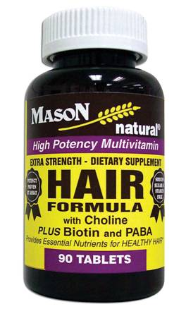 Image 0 of Extra Strength Hair Formula With Choline + Biotin & Paba Multivitamin Tablets 90