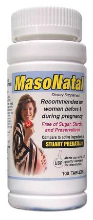 Image 0 of Masonatal Compare To Stuart Prenatal Dietary Supplement Tablets 100